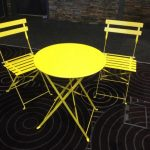Yellow Bistro Furniture - Prop For Hire
