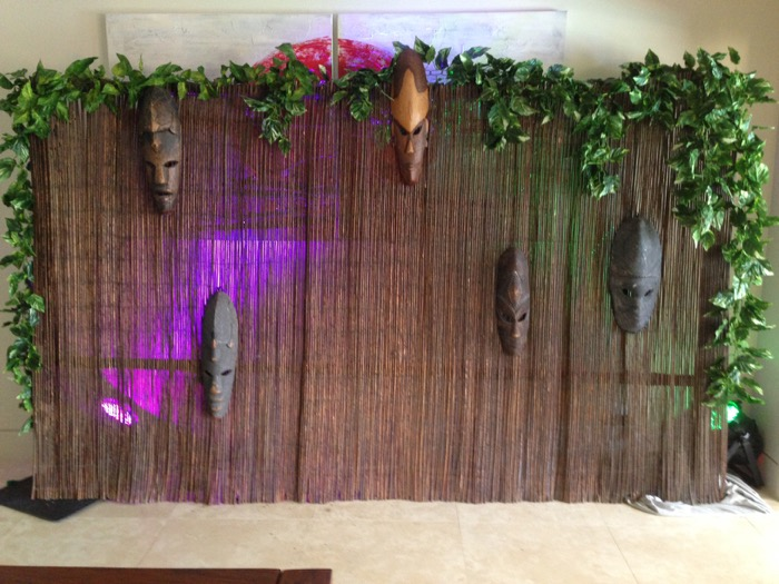 African Reed Backdrop - Prop For Hire