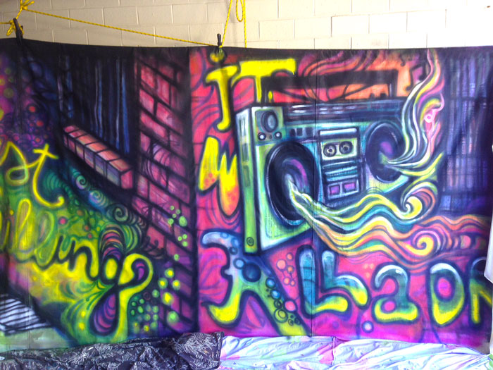 Graffiti Alleyway - Prop For Hire