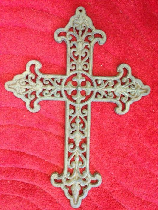Antique Metal Crucifix - Prop For Hire