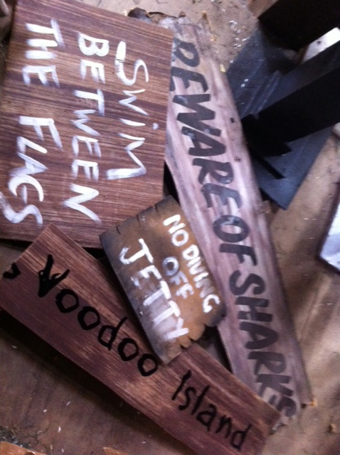 Assorted Beach Signs - Prop For Hire