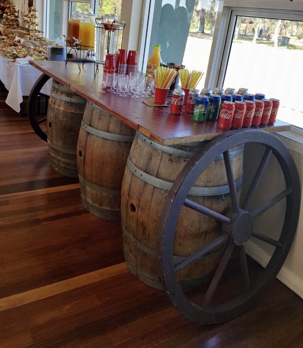 Barrel Table - Prop For Hire