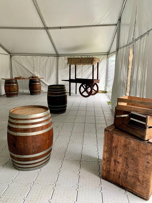 Barrels as Tables - Prop For Hire