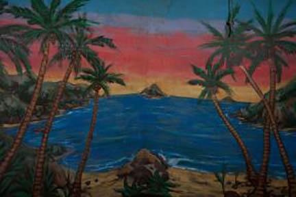 Beach Lagoon Backdrop - Prop For Hire