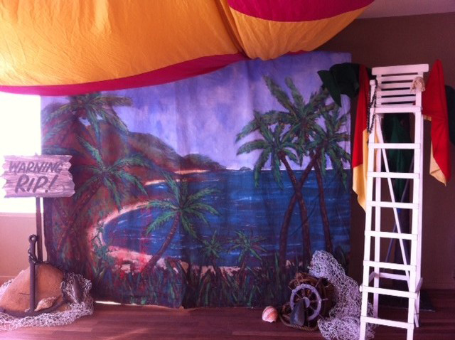 Beach Scene Backdrop - Prop For Hire