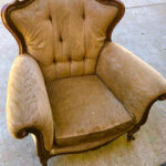 Beige French Armchair - Prop For Hire