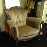 Beige Victorian Armchair - Prop For Hire