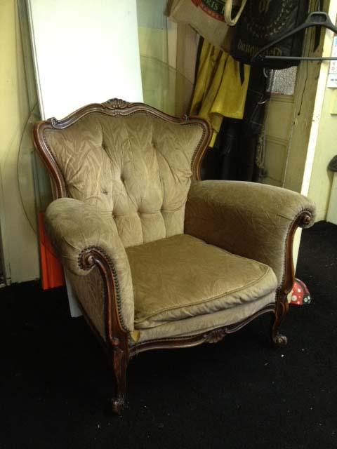 Beige Victorian Armchair - Prop For Hire