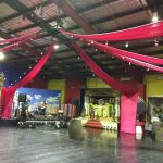 Big Red Draping - Prop For Hire