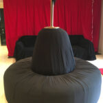 Black Ottoman - Prop For Hire