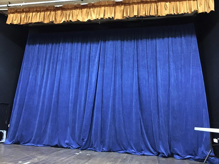 Blue Draping - Prop For Hire