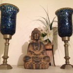 Blue Glass Candelabra - Prop For Hire