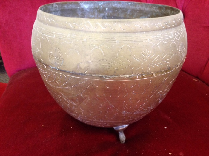 Brass Ornate Bowl - Prop For Hire