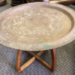 Brass Tray Table 2 - Prop For Hire