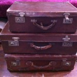 Brown Suitcases - Prop For Hire