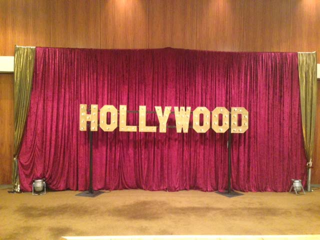 Burgundy Draping - Prop For Hire
