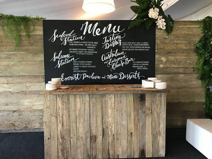 Chalkboard Menu - Prop For Hire Sydney