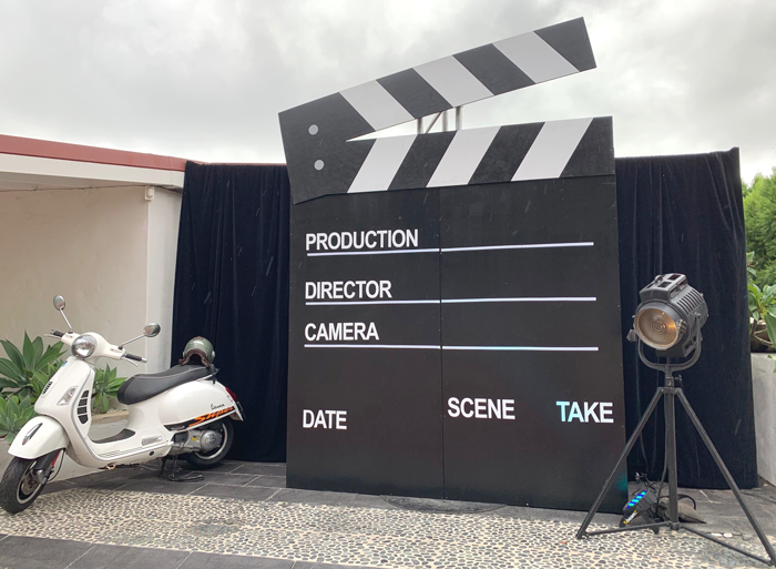 Clapperboard Photo Backdrop - Prop For Hire