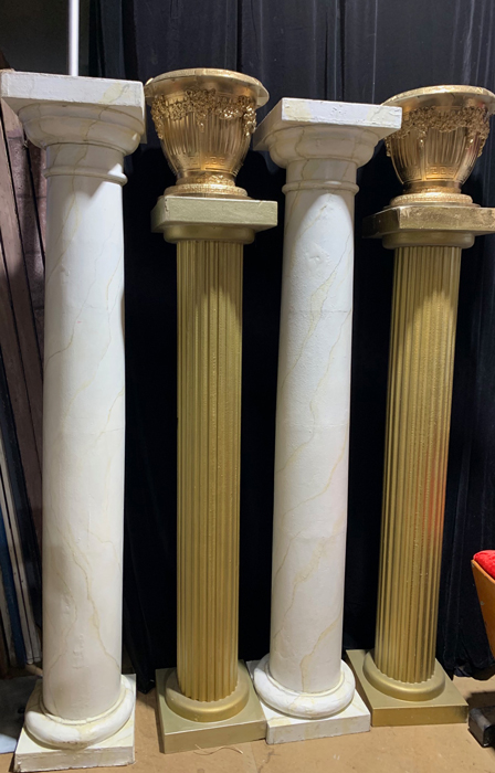Columns and Ribbed Urns - Prop For Hire