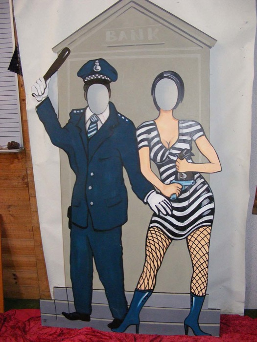 Cop Robber Cutout Poster - Prop For Hire
