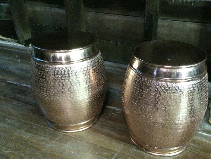 Copper Barrel Stools - Prop For Hire