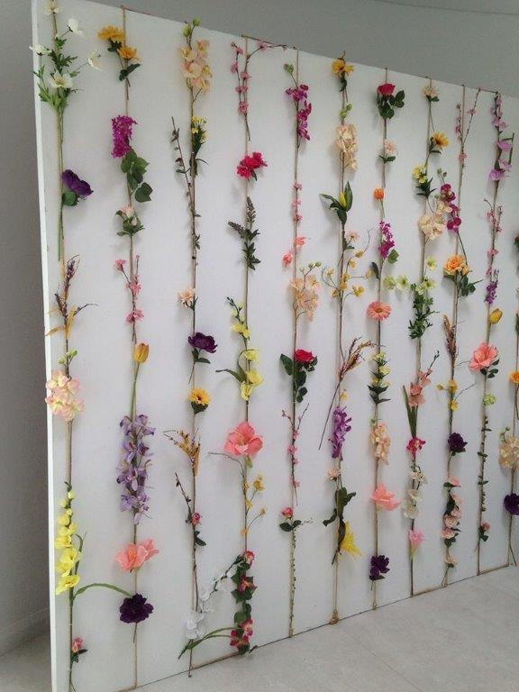Country Flower Wall - Prop For Hire