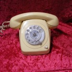 Cream Telephone - Prop For Hire