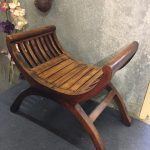Curved Timber Throne - Prop For Hire