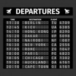 Departure Board - Prop For Hire