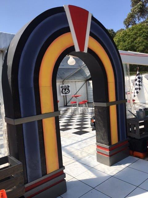 Retro Diner Entrance - Prop For Hire