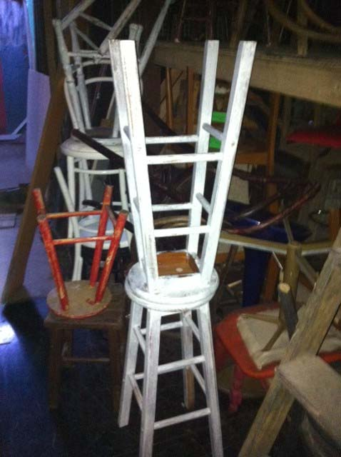 Distressed Bar Stools - Prop For Hire