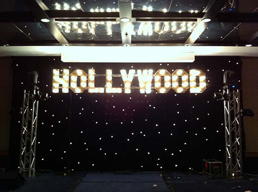Draping Event Star Cloth - Prop For Hire