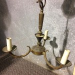 Brass Hanging Light - Prop For Hire