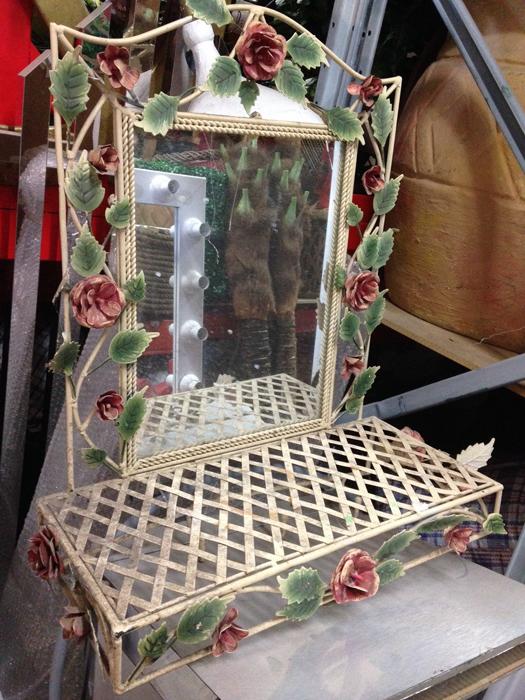Floral Bathroom Mirror - Prop For Hire