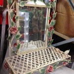 Floral Bathroom Mirror - Prop For Hire
