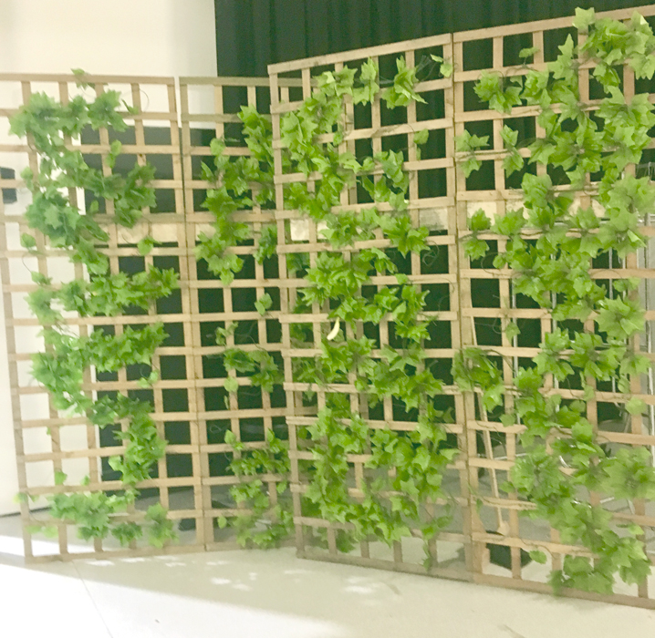 Garden Lattice Backdrop - Prop For Hire
