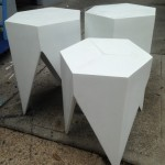 Geometric Snow Tables - Prop For Hire