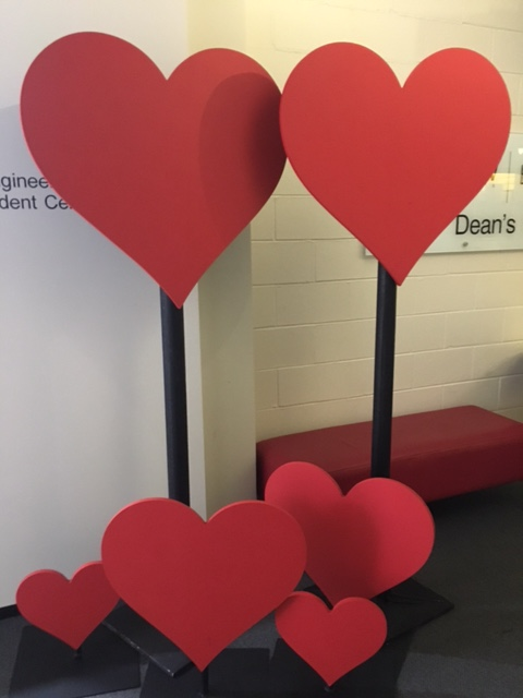 Giant Love Hearts - Prop For Hire