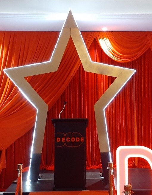 Giant Star Backdrop - Prop For Hire