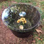 Glasstop Barrel Table - Prop For Hire