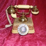 Gold And Cream Phone - Prop For Hire
