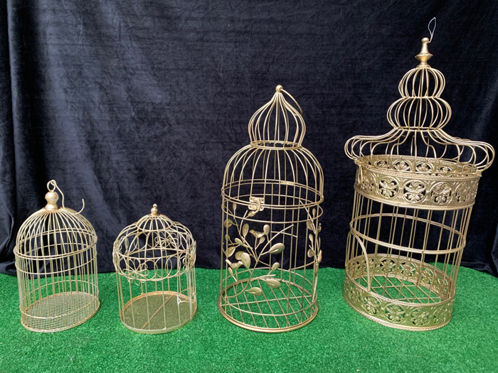 Gold Bird Cages - Prop For Hire