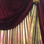 Gold Draping - Prop For Hire