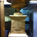 Gold Plinth Urn - Prop For Hire
