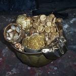 Gold Pot Of Treasure - Prop For Hire