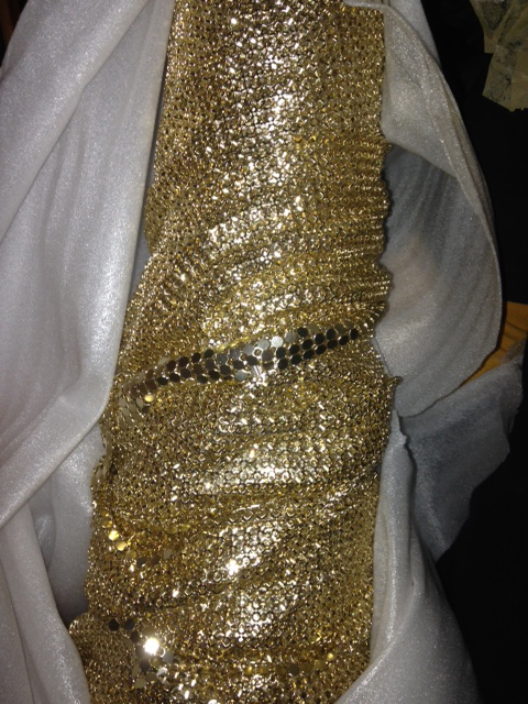 Golden Chain Fabric - Prop For Hire