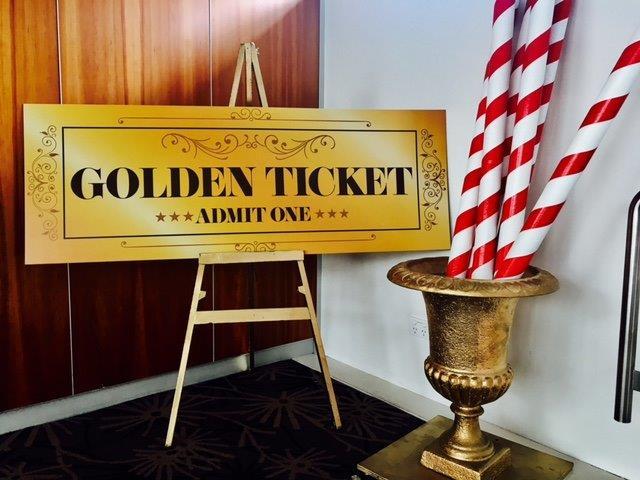 Golden Ticket - Prop For Hire