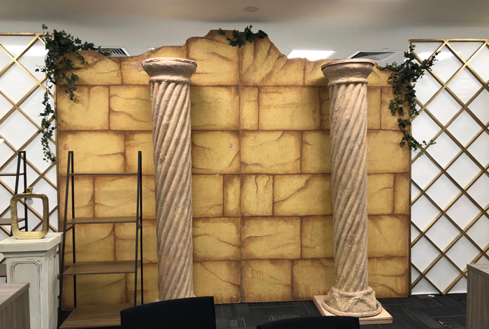 Greek Wall Columns - Prop For Hire