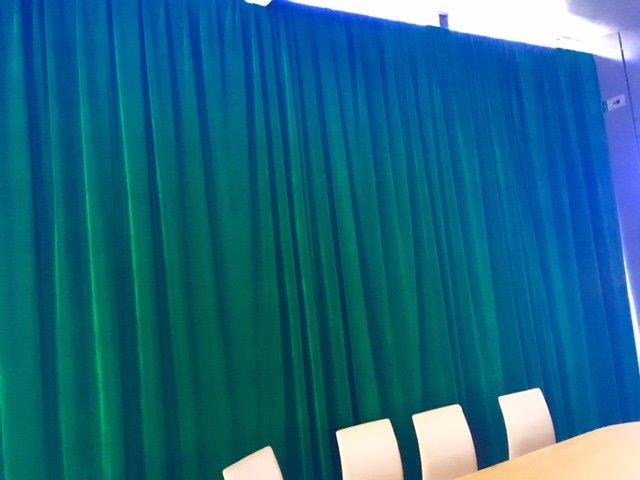 Green Velvet Draping - Prop For Hire