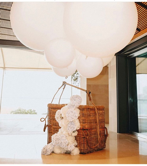 Hot Air Balloon Basket White - Prop For Hire